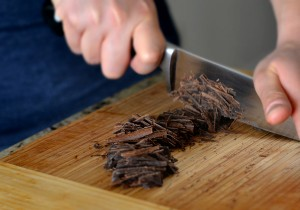 chopping chocolate