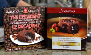 PC and Sensations lava cake boxes