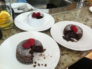 lava cake tasting