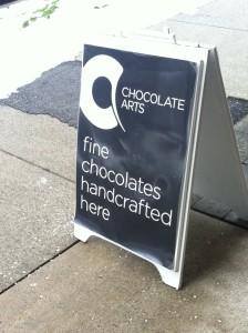 Chocolate Arts sign
