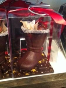chocolate Santa boot