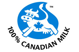 This symbol indicates that products is made entirely from 100% Canadian milk or milk ingredients