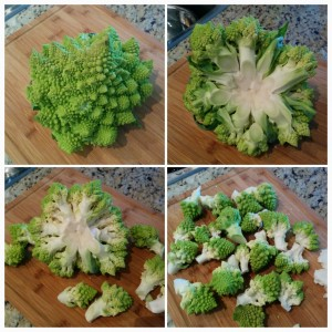 How to cut Romanesco