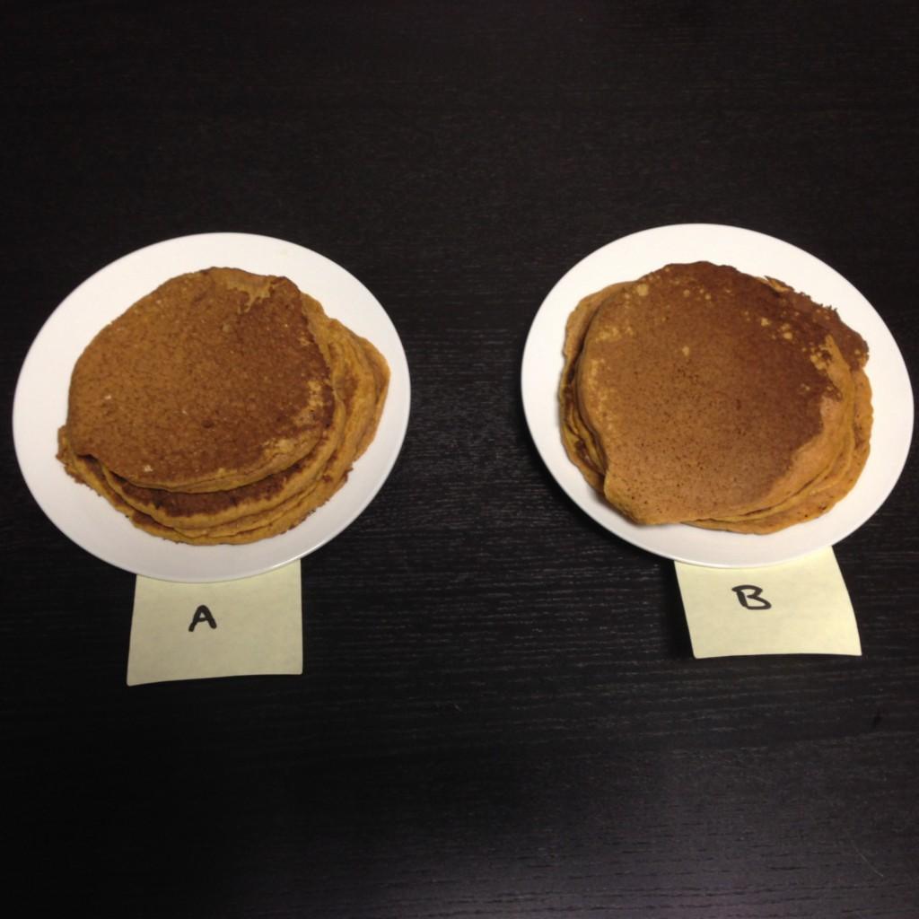 pumpkin pancake taste test