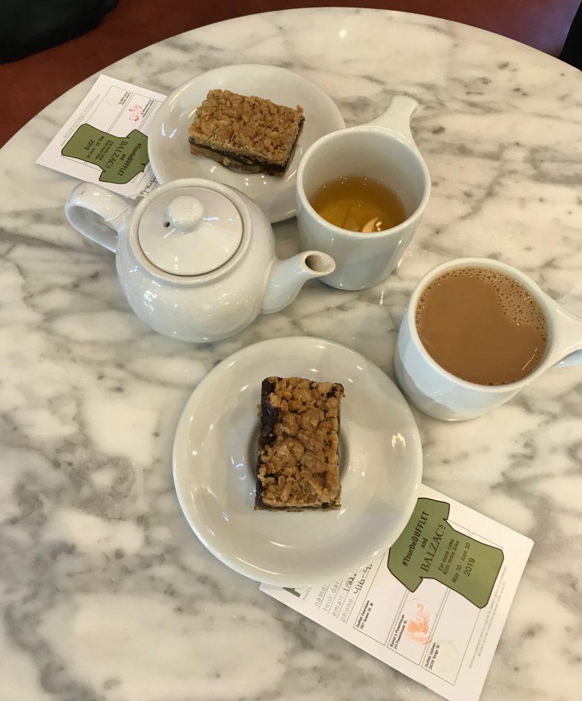 Tea, coffee and date bars