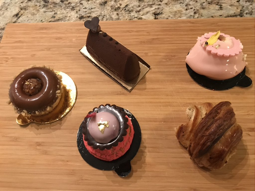 french pastries on cutting board