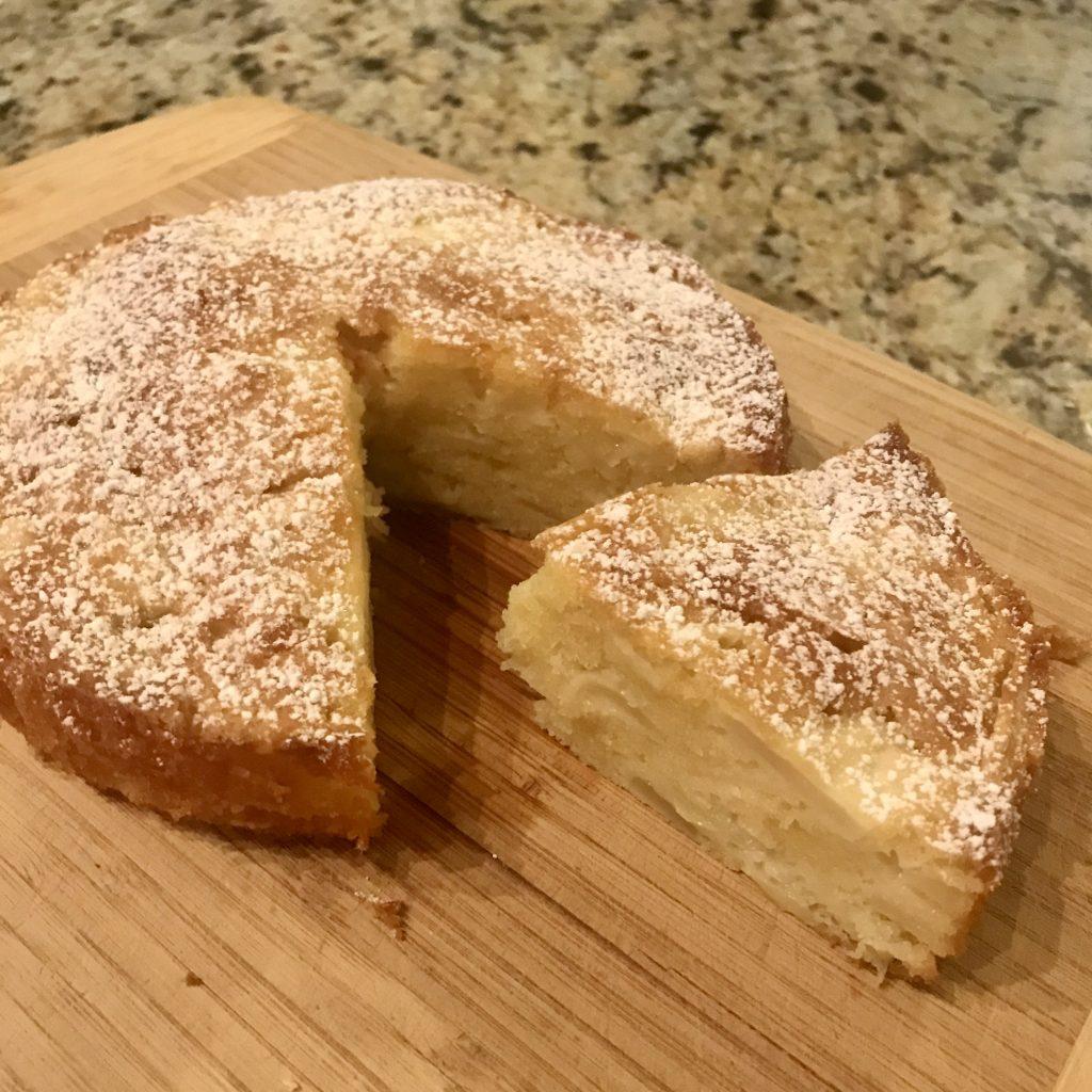 apple cake sliced