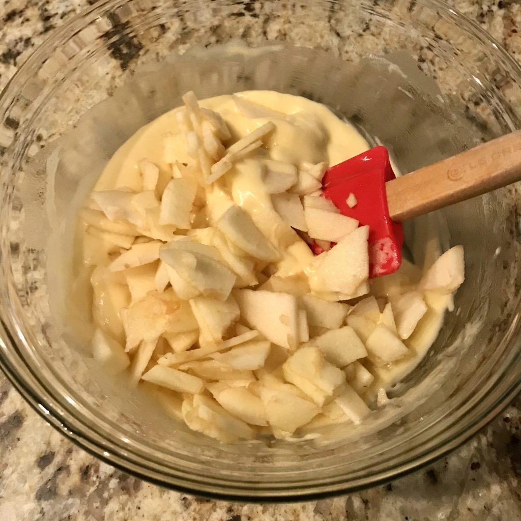 apple cake batter